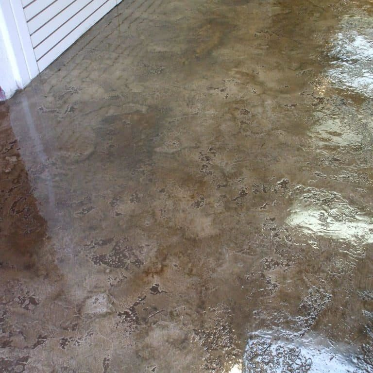 acid stained concrete epoxy design flooring installed in a commercial floor, San Antonio